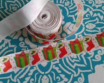 Christmas Ribbon, Grosgrain Ribbon, Bow Making Supplies, Bow Making Ribbon