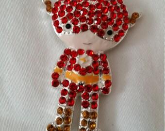 Iron Man Pendant, Pendant, Chunky Bead Pendant, Bling Pendant