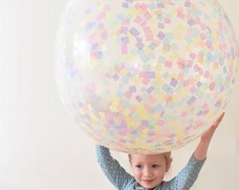 """Easter Pastels Jumbo 36"""" Confetti Balloon"""