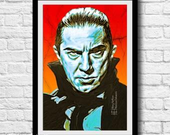 Dracula Classic Movie Digital Painting Print