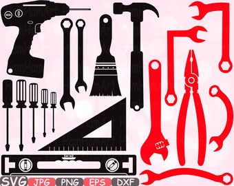 Mechanic Tools Silhouette SVG Cutting Files clipart Handyman color SVG hammer tool designs science Tools svg bundle cricut vinyl cameo -648S