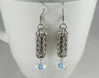 Full Persian Swarovski Chainmaille Earrings