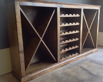 rustic wine rackcabinet dark walnut