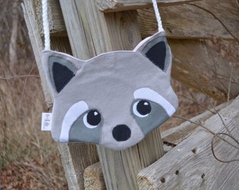 Kid's Racoon Crossbody Bag, Handbag