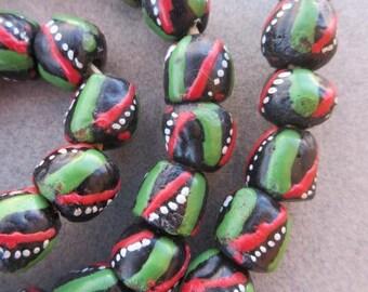 Krobo Glass Beads (11x10mm) [65991]