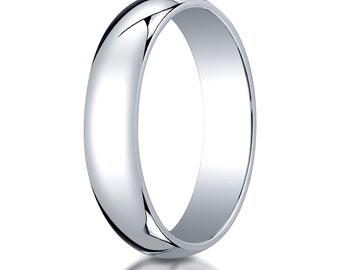10kt White Gold Wedding Band 5mm, 5mm Wedding Ring, White Gold Ring, Solid Gold Ring, 10kt 5mm