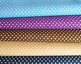 Set of 5 pea fabrics, blue and navy blue, purple, string, brown, 20 * 24 cm
