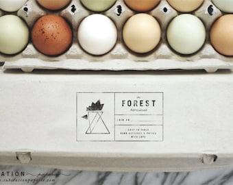 Geometric Chicken Stamp - Fresh Eggs Stamp - Egg Carton Stamp - Packaging - Farm Stand - Farm Fresh Eggs - Chicken Stamp - Modern Chicken
