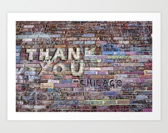 Chicago Cubs World Series Champions Wall Art @ Wrigley Field 'Thank you' by Noriko Aizawa Buckles | art print | tote bag | pillow case