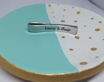 Personalised tie bar, gift for Grandad, gift for Dad,