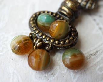 Earth Tone, Czech Beads, Rondelle Beads, N1751