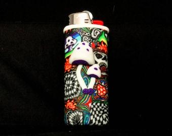 FIMO Clay Lighter Case - Mushroom
