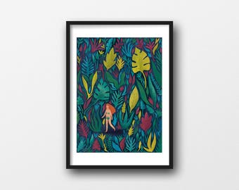 In The Woods, A4/A3 giclée illustration print