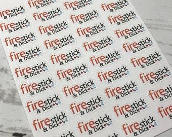ADULT*** Firestick & ... Stickers for Erin Condren, Kikki-k, filofax, midori, fauxdori plannners