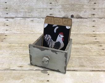 Chicken Address Book, Address Box, Hens, Hen Pals