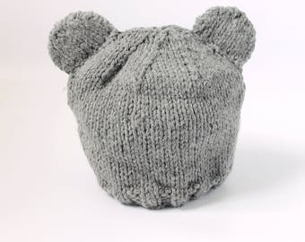 Knitted Baby Bear Hat I Knit Baby Hat I Baby Hat I Baby Shower Gift
