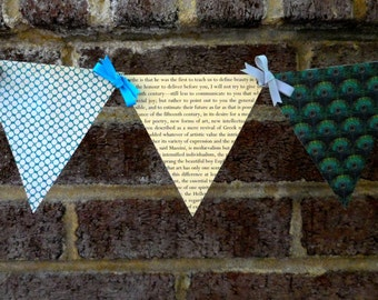 Oscar Wilde Paper Pennant Banner / Book Page Decor / Pre-Raphaelite / Aesthetic / Party / Dorm Decor / Bunting / Garland