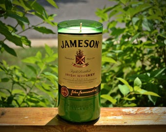 Jameson Irish Whiskey Bottle Candle made with soy wax