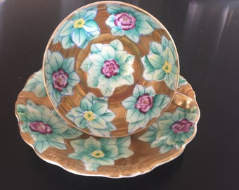 A stunning vintage hand-painted Trimont China cup from Occupied Japan