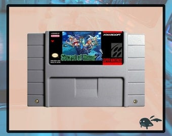 Secret of Mana 2 SNES Repro Cartridge USA NTSC  English Language w/ Save