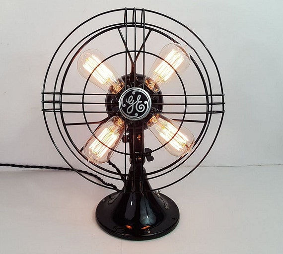 Vintage Ge Fan Lamp Edison Bulbs 1937 General Electric