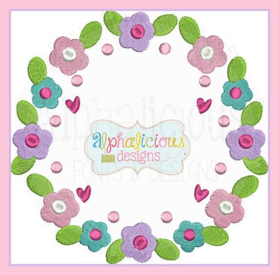 Shop Floral Monograms At Littlebrownnest Etsy Com: Spring Floral Monogram Frame Laurel Wreath Frame Monogram