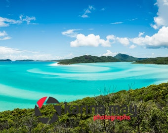 Whitehaven Beach Panorama Print, Hill Inlet Photograph, Airlie Beach, Whitsundays, Wall Art, Home Decor, Travel, Landscape