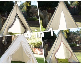 XS 4ft Ultimate teepee photo prop tent /4 photo prop teepees in one/ Kids play tent/ baby teepee photo prop