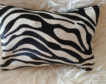 Zebra Beauty Bag-Double Sided