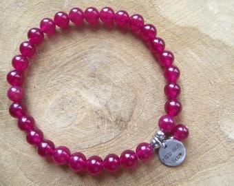 Bracelet jade fuchsia got you mother's day, Valentine's day love love