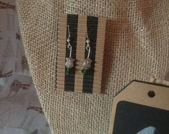 Silver Owl Earring Simple Petite Statement Earrings