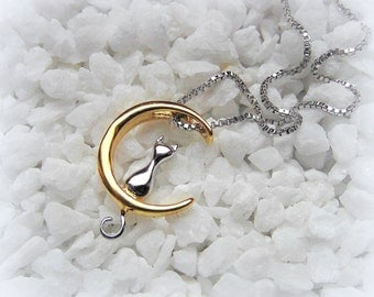 Necklace bicolor cat cat
