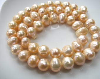 Fresh Water Pearls, 15 inch strand, pink pearls, 50 beads, 8mm, Jewelry supplyB-1580
