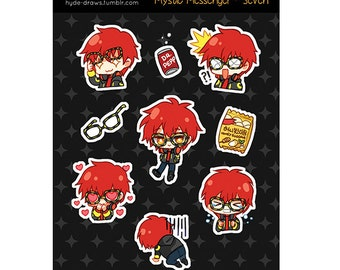 "Mystic Messenger Seven 3x4"" Kiss Cut Sticker Sheet"