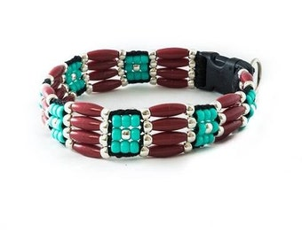 Cherokee Beaded Dog Collar