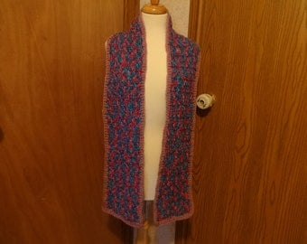 Handmade Bonbon Print Yarn Crochet Scarf