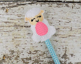 Lamb Pencil Toppers - Party Favor - Easter - Small Gift - Back to School