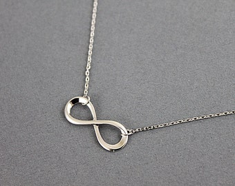 Simple Infinity Necklace Bridesmaid Gift Bridesmaid Necklace Wedding Jewelry Dainty and Delicate Necklace Birthday Gift