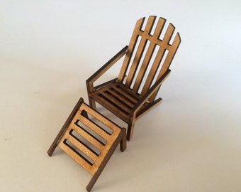 1/24th Adirondeck chair and foot stool kit