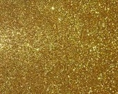 Gold Glitter Round Earrings *reserved listing*