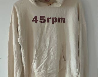 Rare Vintage 45rpm Sweatshirt Hoodie Size M Made in Japan