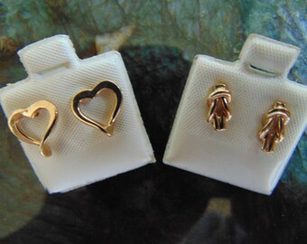 Beautiful 14K Gold Earrings Two Pair One Low Price