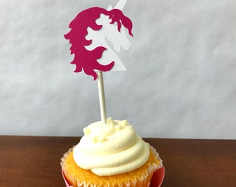 Unicorn Cupcake Toppers - pastel  - rainbow party - party supplies