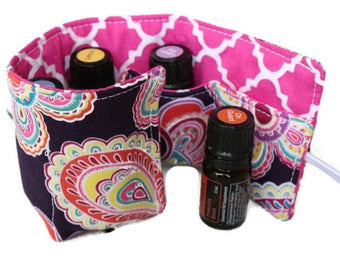 Essential Oil Case~Doterra~Young Living~Essential Oils Holder~The Cotton Rooster~Essential Oil Carrier~Insert~Bag Insert~Travel Case