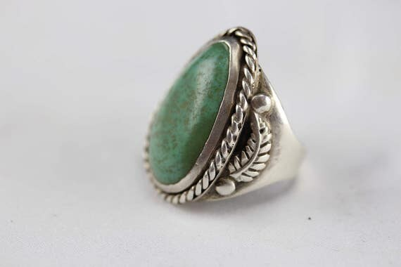 Vintage Ring Pawn Silver & Turquoise Southwest Native American Jewelry