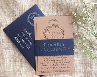 Wedding Invitation Suite | Navy Wedding Invitations | Rustic Navy Wedding Invitation | the Jade
