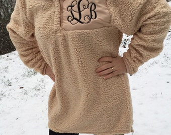 Personalized Youth  Monogrammed Sherpa Pullover