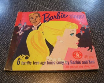 Barbie Sings!  Barbie Record  Book with 3 Records Mattel 1961 Vintage