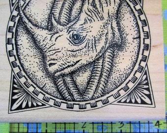 framed rhino by taylored artwork