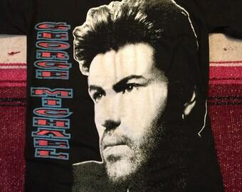 Vintage George Michael T-Shirt Medium Dead Stock